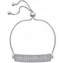 Stříbrný náramek Hot Diamonds Crystal Triple Row Clear DL511
