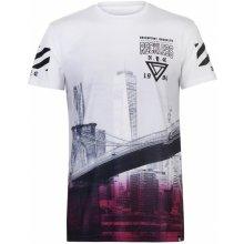 Fabric Sublimation T Shirt Mens City Bridge