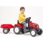 FALK Šlapací traktor 2051 Ranch Trac červený s vlečkou