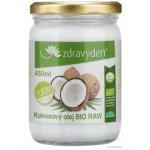 Zdravý den Kokosový olej 100% panenský Bio Raw 450ml