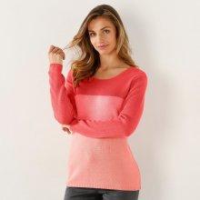 4fb827e13537 Blancheporte Dvoubarevný pulovr korálová broskvová