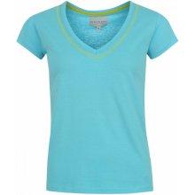 Miss Fiori Essential V Neck Top Ladies - Aqua Blue