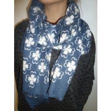 fc001b2571f Dámský zimní šátek světle modrý