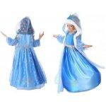 šaty Frozen Elsa Ledové království s kapucí 3 dílný set