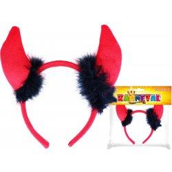 aaafc55a440 Karnevalový kostým čelenka rohy čertí