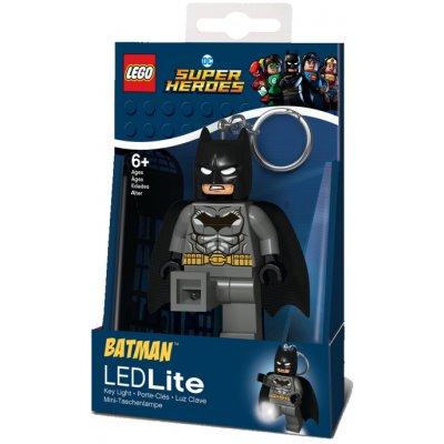 Přívěsek na klíče LEGO DC Super Heroes Grey Batman svítící figurka LGL-KE92