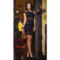 Dámské společenské šaty koktejlky asymetrické černé + tanga zdarma ... b7564eb0a23