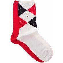 Tommy Hilfiger 2-pack ponožky Červená Bílá dámské