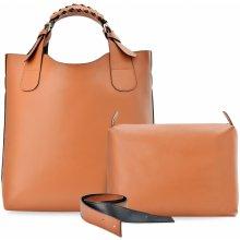 sada 3v1 kabelky shopperbag listonoška + kosmetická kapsička hnědá. 169 Kč  World-Style.cz. módní kabelka zarka 2v1 hnědá aef5fa0f5bd