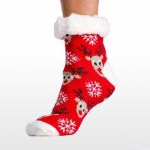 Calzanatta dámské televizní vánoční ponožky - Černá - 961