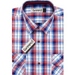 GREED pánská košile sportovní SK342 modro-červené kárko ed2468b716