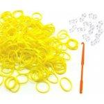 Gumičky Looms Bands - 180 ks Žlutá