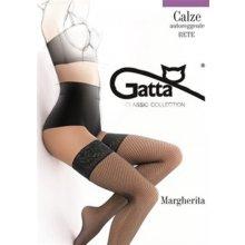 Punčochy Gatta Margherita 01 samodržící síťované černé