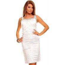 f29f87db031 Mayaadi Deluxe elegantní pouzdrové šaty bílá