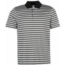 Adidas 2 Colour Stripe Golf Polo Mens Grey