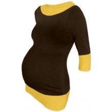 Jožánek Diana těhotenská tunika hnědá + žlutooranžová