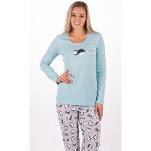 751a7092478b Vienetta Secret Tučňák na sněhu dámské pyžamo dlouhé mentolová