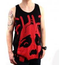 Cult FACE LOGO T Shirt Black Red