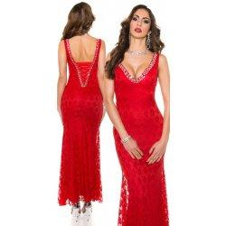 KouCla Společenské dlouhé šaty s krajkou červené alternativy ... a62f711dc9