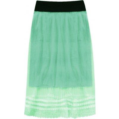 Prodyšná plisovaná sukně 97ART zelená