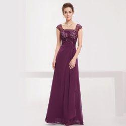 7f6deaa27ff Dlouhé luxusní večerní šaty na ples či pro svatební matky fialová od ...