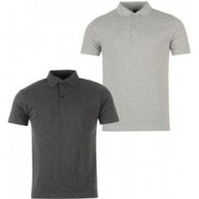 Donnay Two Pack Polo Shirts Mens GreyM/Char
