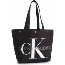 ab5cecf278 Calvin Klein Jeans Canvas Utility Ew Bottom Tote M K60K605310 Černá