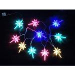 LED vánoční řetěz multicolor – HVĚZDIČKY NA BATERKY 32315 délka 1,4 m, IP44 pro venkovní i vnitřní použití