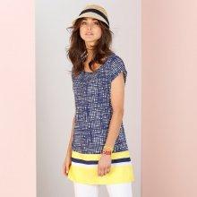 Blancheporte Tunika s grafickým vzorem modrá/žlutá