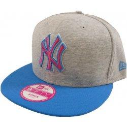 New Era Triple Jersey New York Yankees Heather Grey Blue Snapback šedá    modrá   modrá Kšiltovka Dámská f0aa9e7859