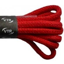 Kulaté červené tenké bavlněné tkaničky 80 cm