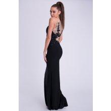 Dámské luxusní společenské šaty s korálky dee57f5627