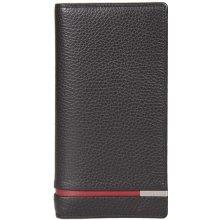 GIUDI velká černočervená kožená peněženka dokladovka 7349