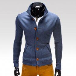 Ombre Clothing Mikina Cameron jeansová 26ca3dfa99