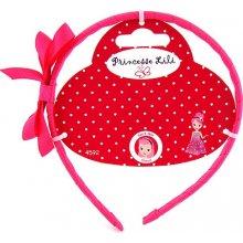 Čelenka s mašlí Princesse Lili růžová stuha