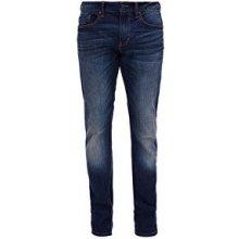 Oliver Pánské tmavě modré strečové kalhoty Slim 9f786935e7