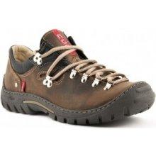 3efa559362 Pánské boty na treckové podrážce z pravé kůže