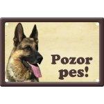 Plechová psí cedule, Německý ovčák, Pozor pes