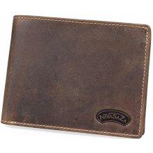 Nivasaža N13 HNT BR pánská kožená peněženka hnědá