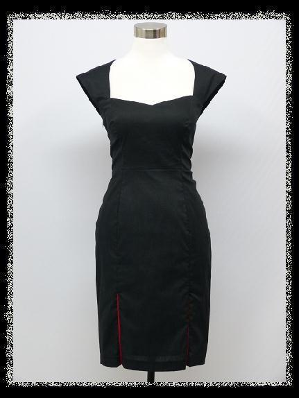 Sexy pouzdrové šaty s ozdobnými rozparky černá alternativy - Heureka.cz 178b3334b29