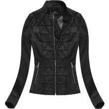Libland dámská jarní bunda koženková černá (5318)