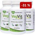 Vegetology VegVit. Multivitamín s minerály 90 tablet sada 3 ks