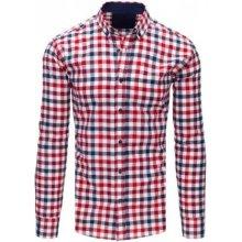 Pánské košile Pánská kostkovaná košile - červená - Heureka.cz e86bf68fc2