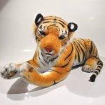 Plyš Tygr hnědý velký
