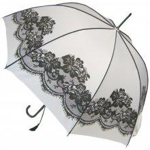 Dámský holový plně automatický deštník White Vintage BCSVWH Blooming Brollies mBR0023