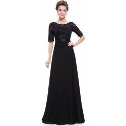 Plesové šaty Ever Pretty večerní šaty s krajkou EP08847BK černá 1d5abd6507