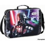 CurePink taška Star Wars Darth Vader Saga černá