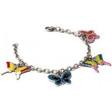 Giovanni Bertolucci náramek s barevnými motýlky DNK0080