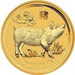 Lunární Zlatá investiční mince Year of the Pig Rok Vepře 1/2 Oz 2019