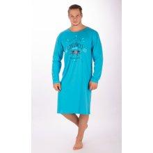 Vlk pánská noční košile dl.rukáv sv.modrá